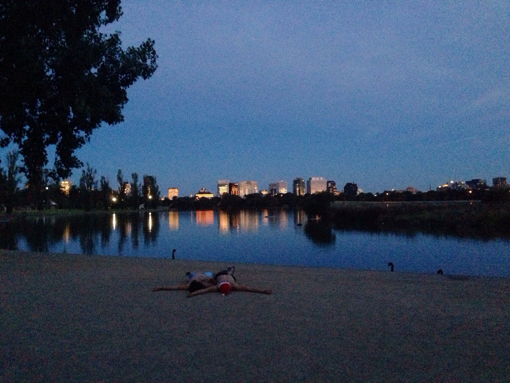 Coucher de soleil Albert Park Melbourne