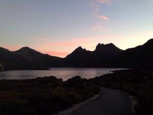 coucher soleil dove lake