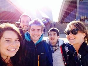 Amis-fun-opéra-Sydney-selfie-australie